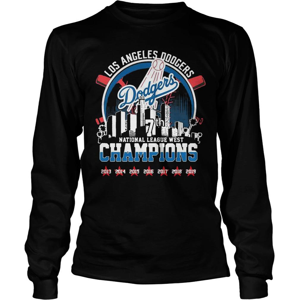 Los Angeles Dodgers 7th National League West Champions Longsleeve