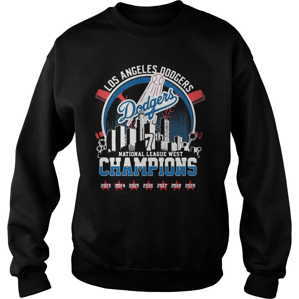 Los Angeles Dodgers 7th National League West Champions Sweater