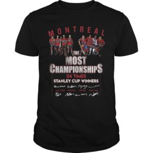 Montreal The Most Championships 24 Times Stanley Cup Winners Signatures