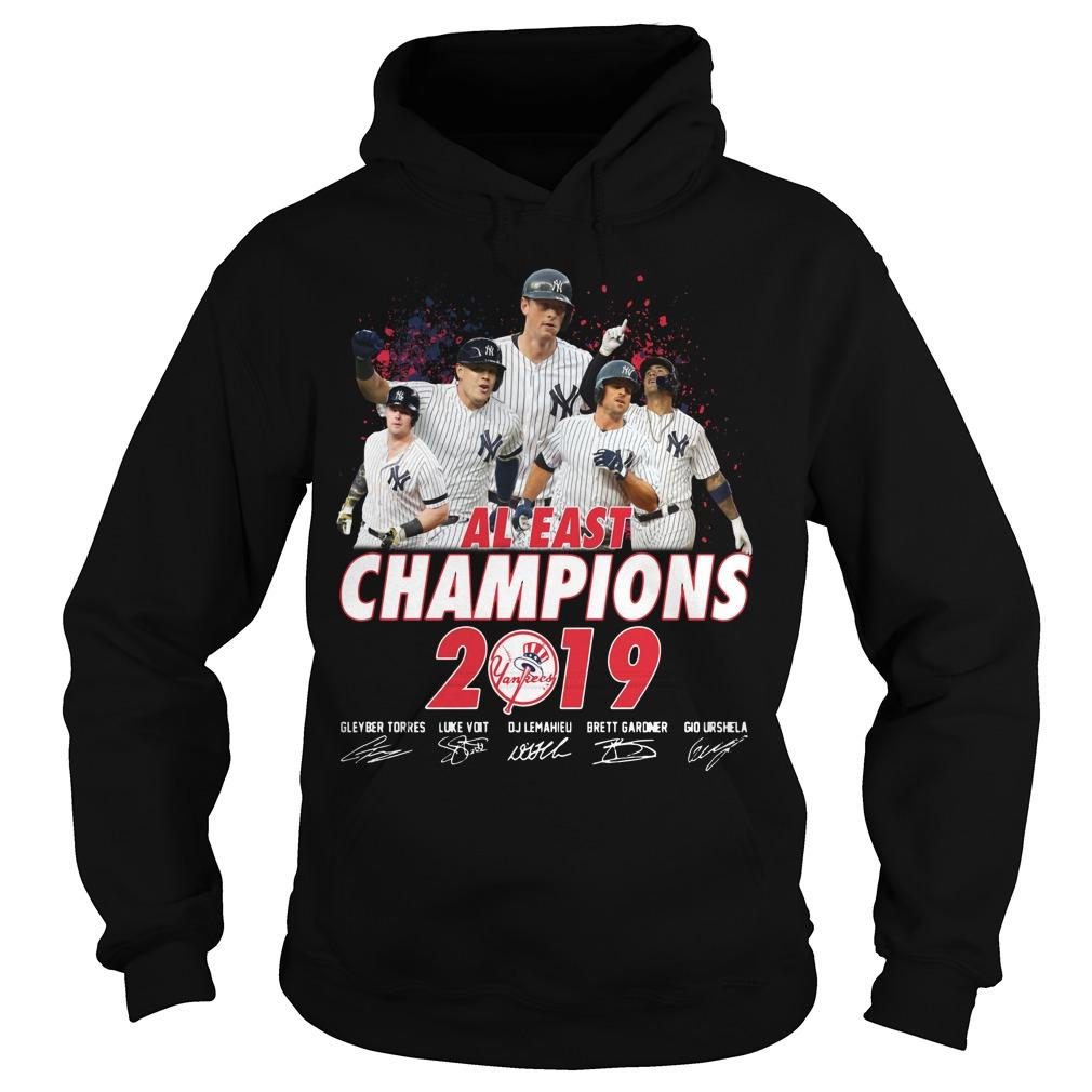 New York Yankees Al East Champions 2019 Signatures Hoodie