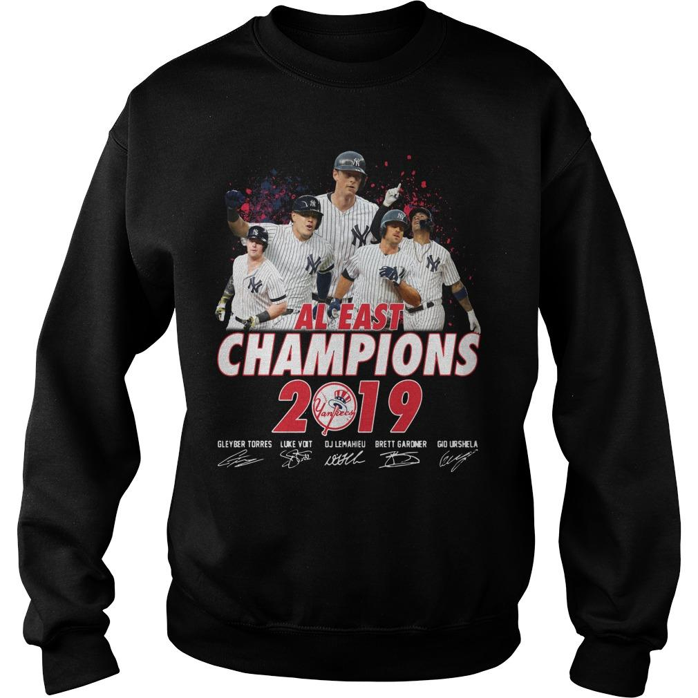 New York Yankees Al East Champions 2019 Signatures Sweater
