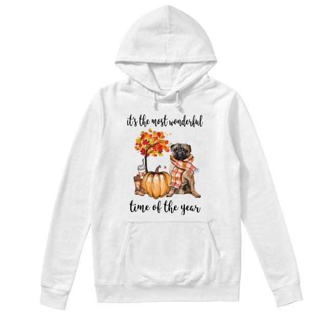 Pug It's The Most Wonderful Time Of The Year Hoodie