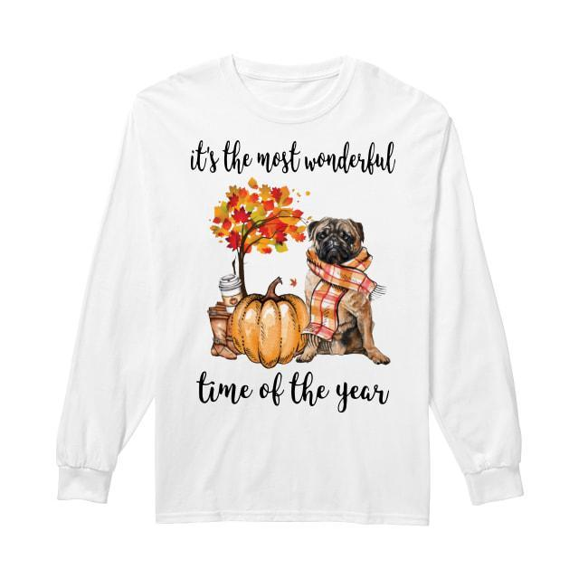 Pug It's The Most Wonderful Time Of The Year Longsleeve