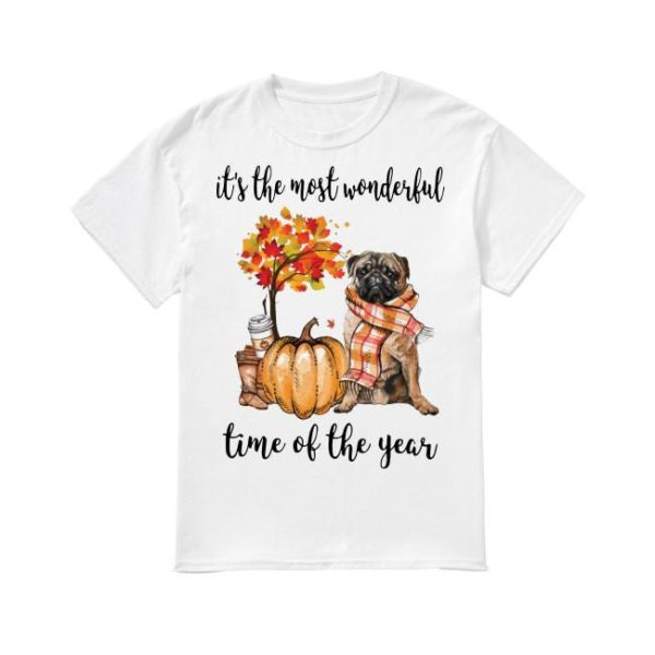 Pug It's The Most Wonderful Time Of The Year Shirt