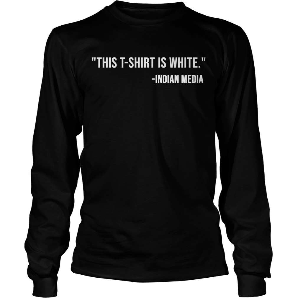 Rana Ayyub This T Is White Indian Media Longsleeve