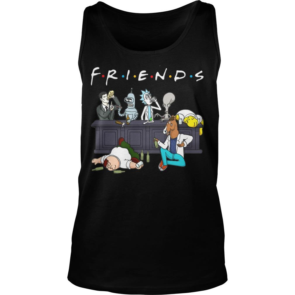 Rick And Morty Friends Tv Show Tank Top