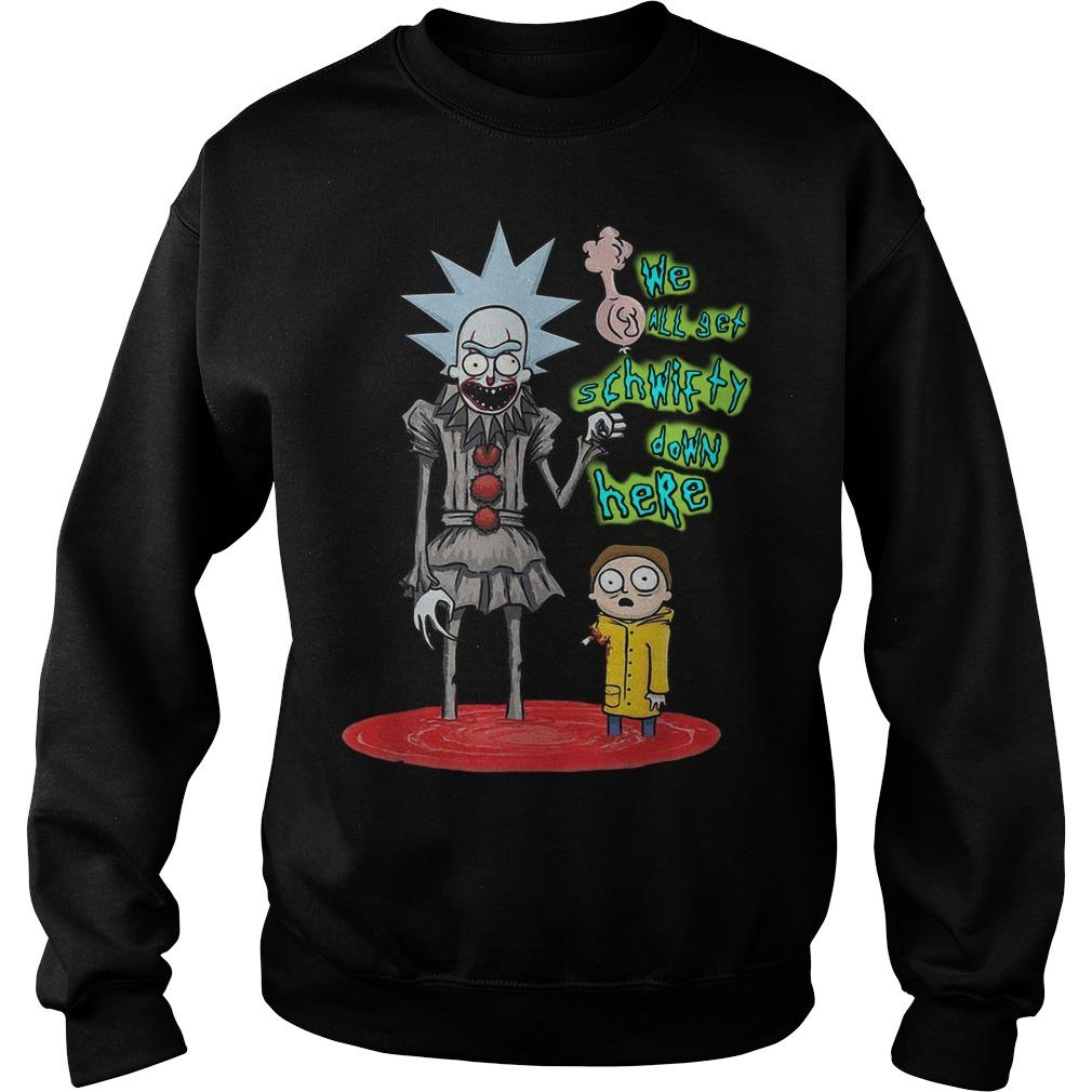 Rick And Morty Pennywise We All Set Schwifty Down Here Sweater