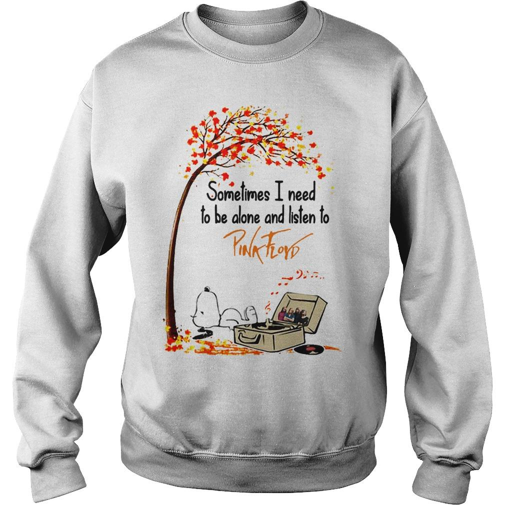 Snoopy Autumn Tree Sometimes I Need To Be Alone And Listen To Pink Floyd Sweater