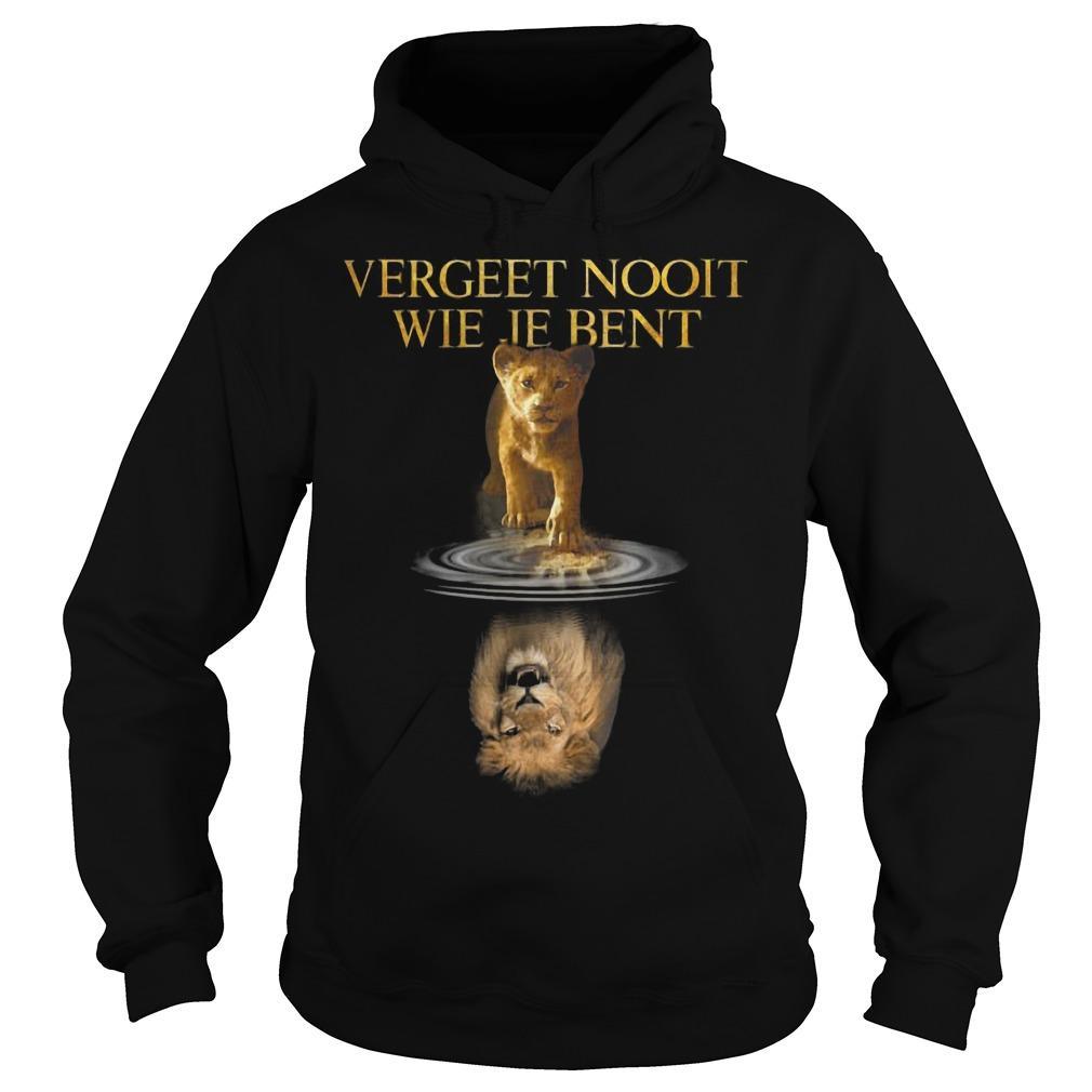 The Lion King Vergeet Nooit Wie Je Bent Hoodie