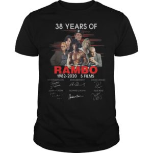 38 Years Of Rambo 1982 2020 5 Films Signatures Shirt