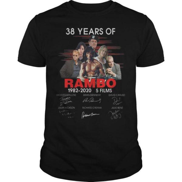38 Years Of Rambo 1982 2020 5 Films Signatures Shirt