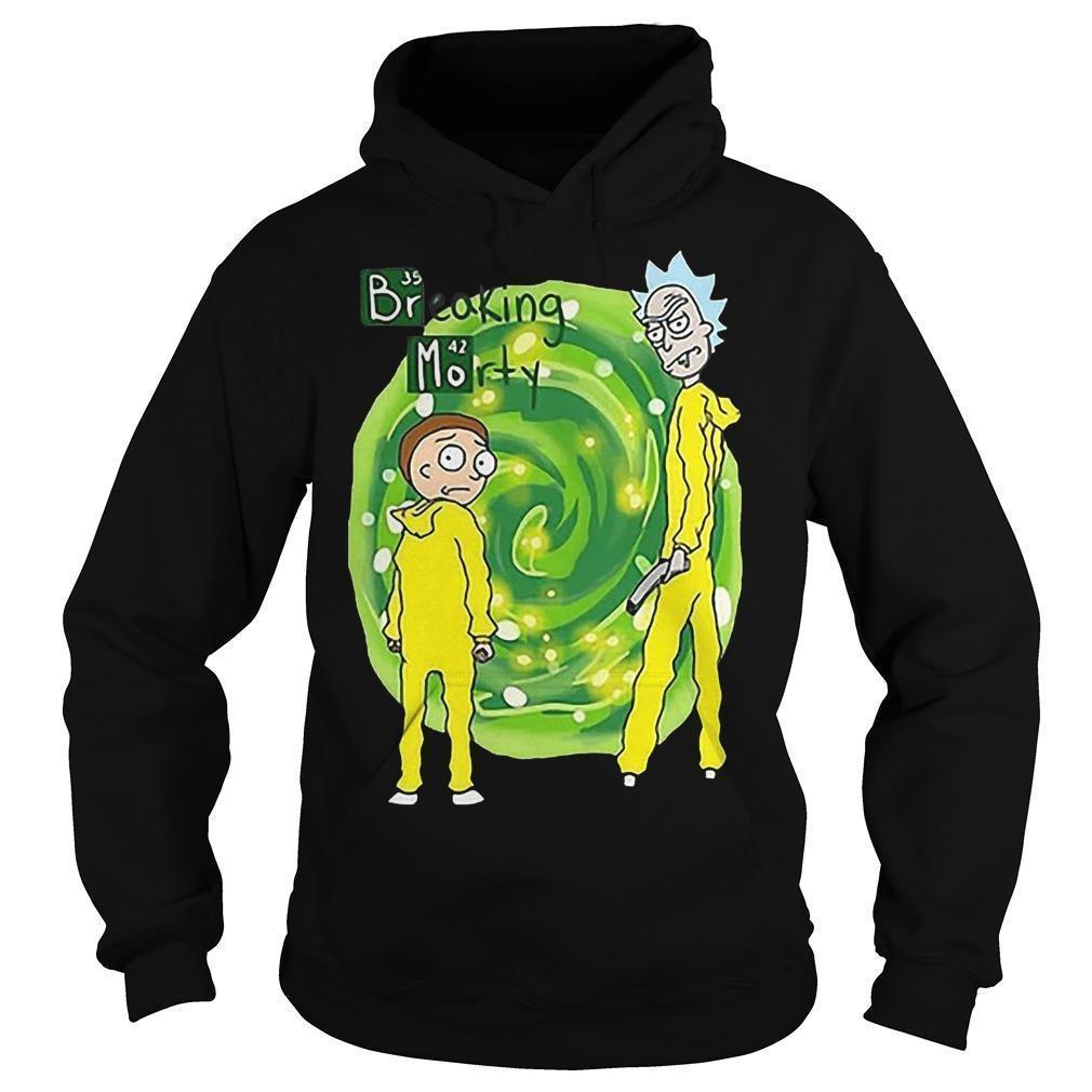 Breaking Morty Crossover Breaking Bad Rick And Morty T Hoodie