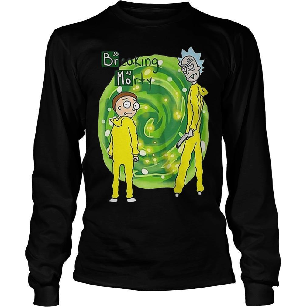 Breaking Morty Crossover Breaking Bad Rick And Morty T Longsleeve