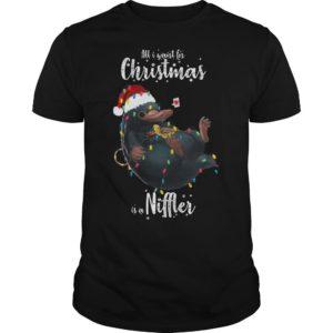 Christmas Light All I Want For Christmas Is A Niffler Shirt