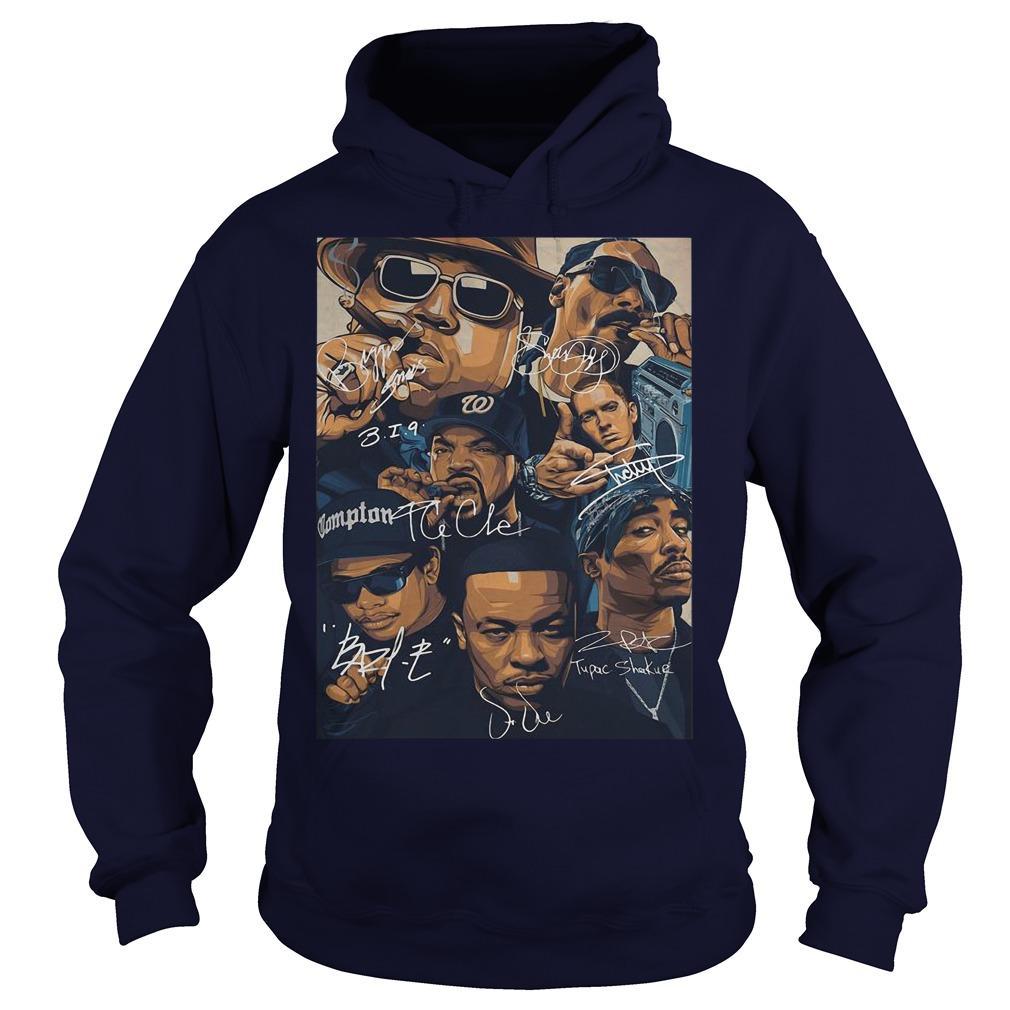 Compton Team Rapper Signatures Hoodie