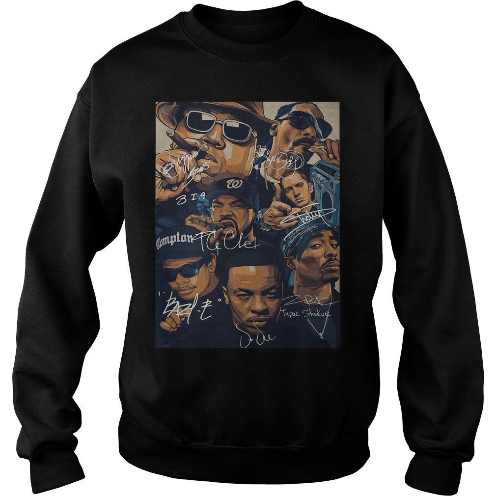 Compton Team Rapper Signatures Sweater