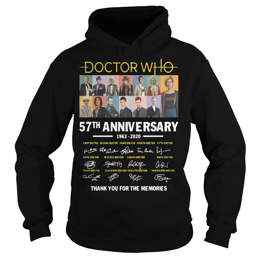 Doctor Who 57th Anniversary 1963 2020 Thank You For The Memories Signatures Hoodie