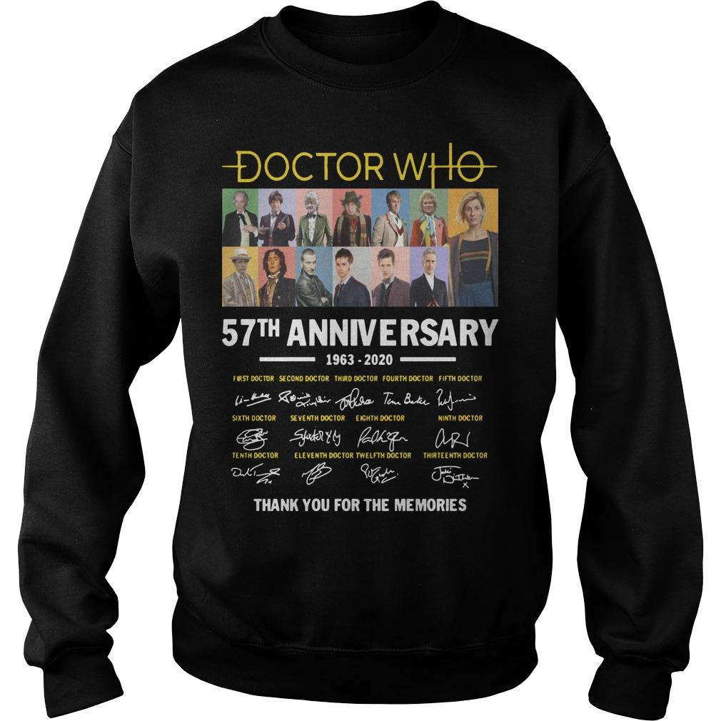Doctor Who 57th Anniversary 1963 2020 Thank You For The Memories Signatures Sweater