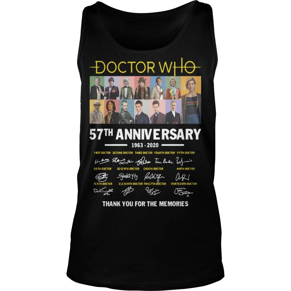 Doctor Who 57th Anniversary 1963 2020 Thank You For The Memories Signatures Tank Top