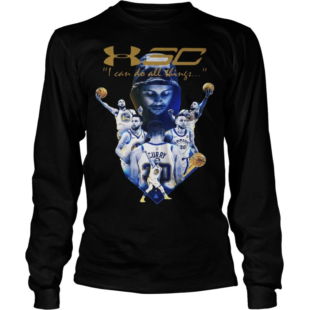 Golden State Warriors I Can Do All Things Stephen Curry T Longsleeve