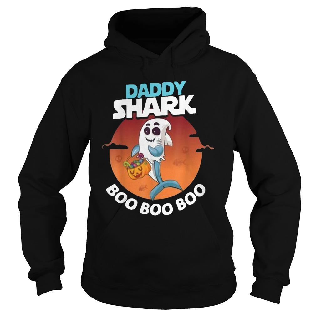 Halloween Ghost Daddy Shark Boo Boo Boo Shark Hoodie