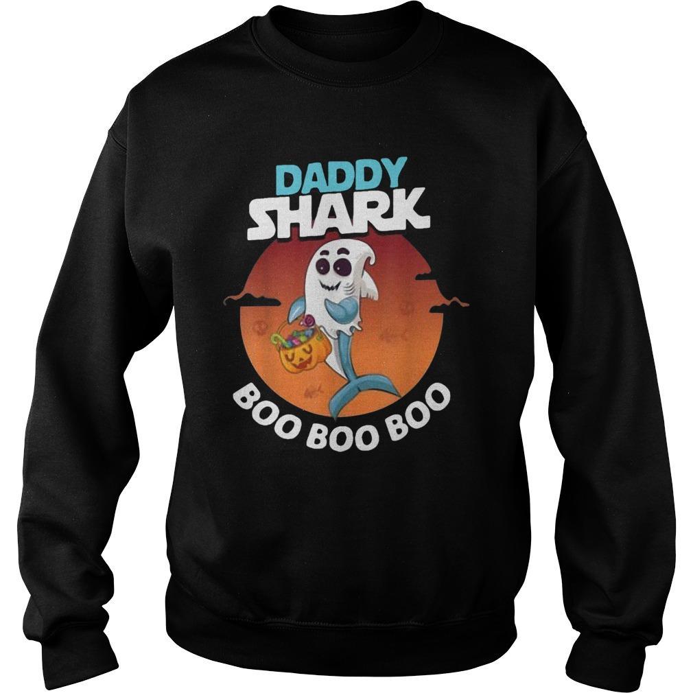 Halloween Ghost Daddy Shark Boo Boo Boo Shark Sweater