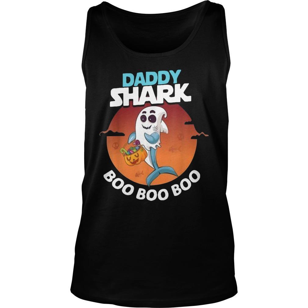 Halloween Ghost Daddy Shark Boo Boo Boo Shark Tank Top