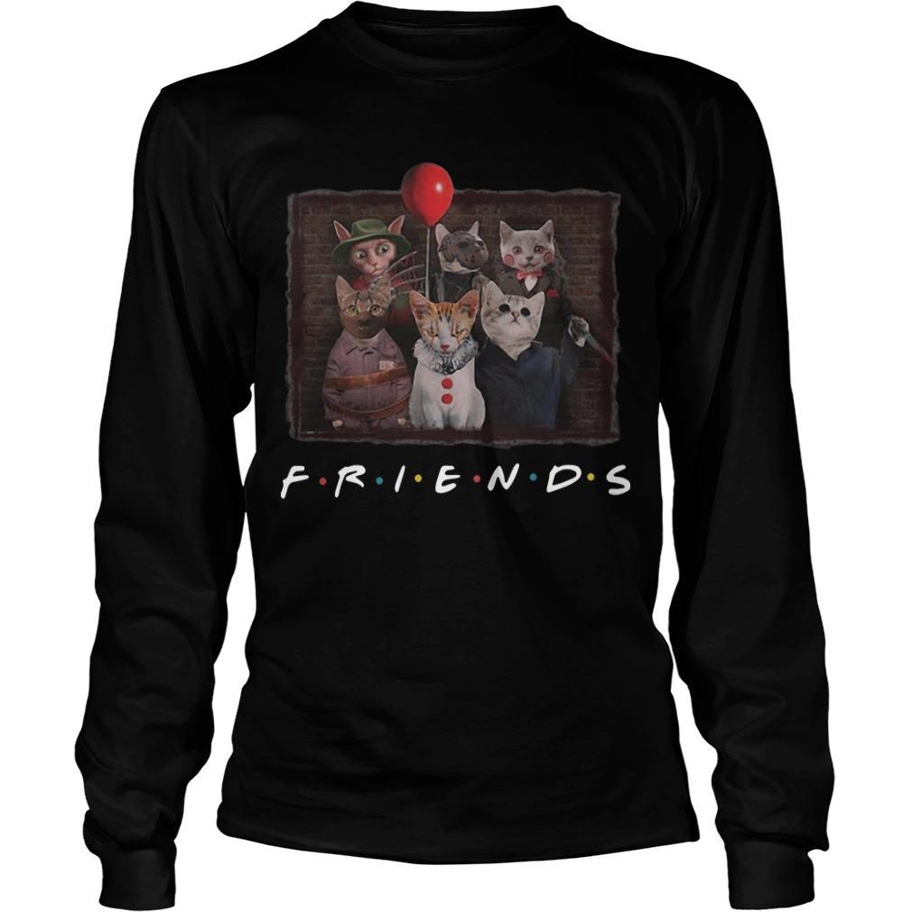 Horror Characters Cat Ver Friends Tv Show Longsleeve