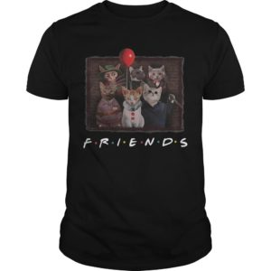 Horror Characters Cat Ver Friends Tv Show Shirt