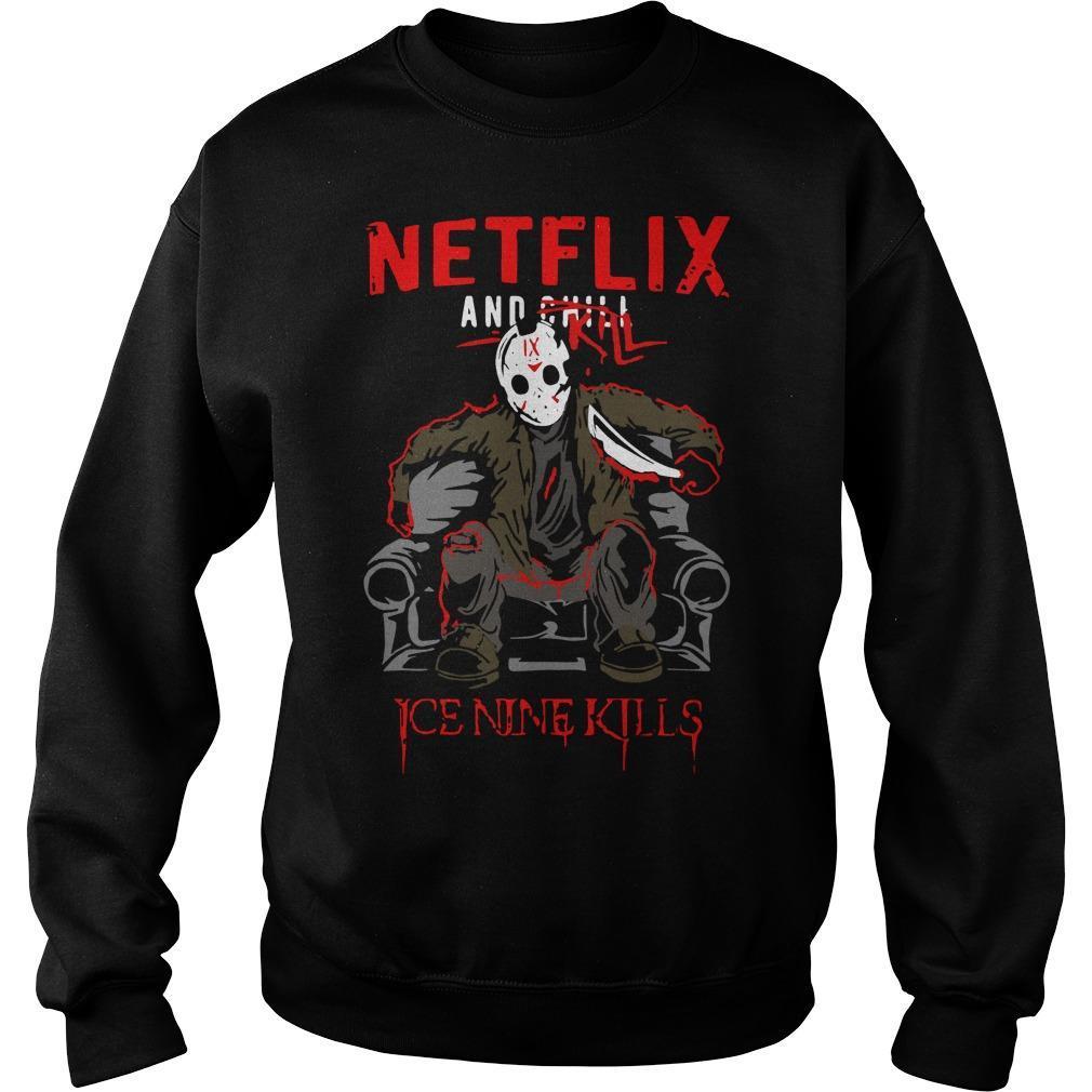 Jason Voorhees Netflix And Chill Kill Ice Nine Kills Sweater
