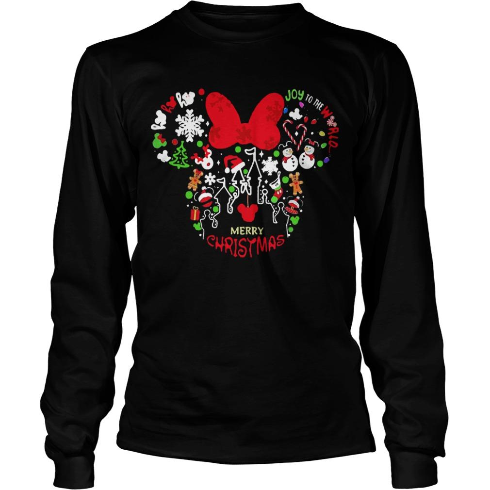 Minnie Mouse Face Merry Christmas Longsleeve
