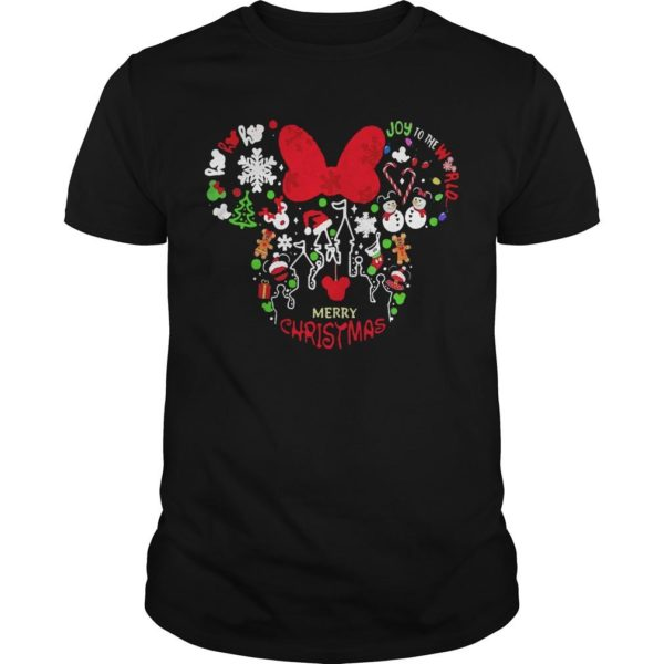 Minnie Mouse Face Merry Christmas Shirt