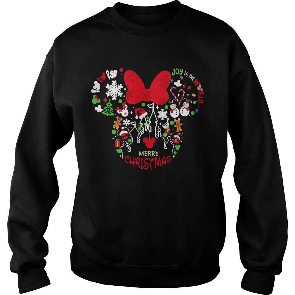 Minnie Mouse Face Merry Christmas Sweater