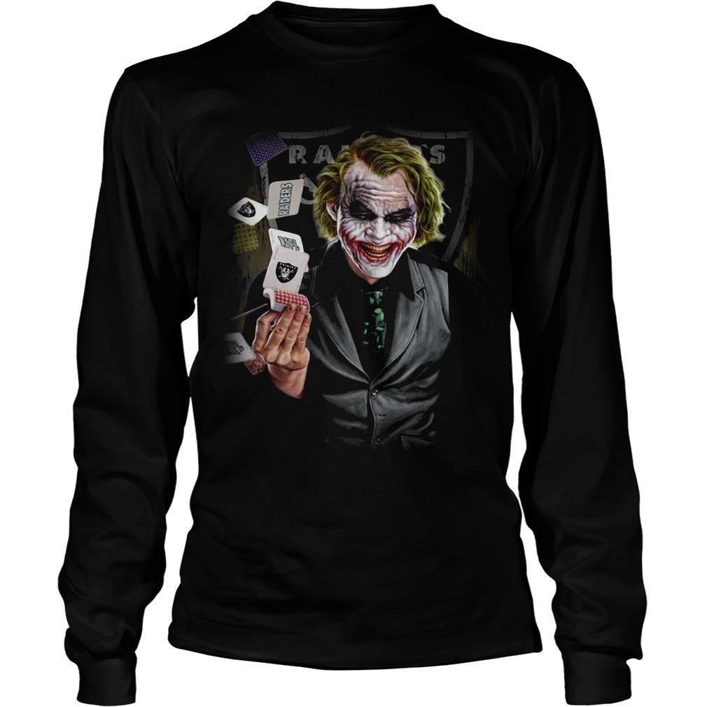 Oakland Raiders Poker Joker Longsleeve