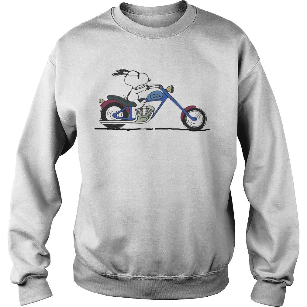 Snoopy Riding Motorcycle Peanuts Sweater