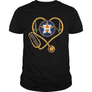 Stethoscope Heartbeat Nurse Love Houston Astros Shirt