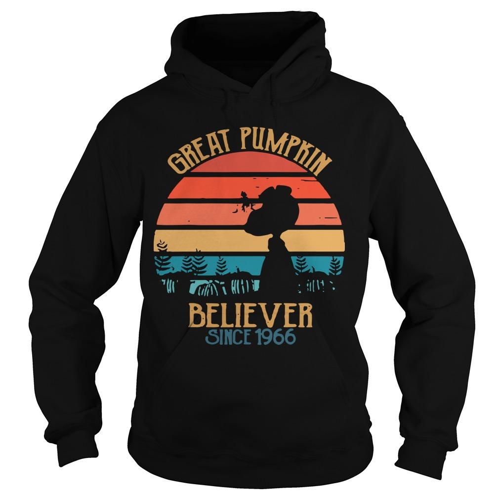 Vintage Great Pumpkin Believer Since 1966 Hoodie