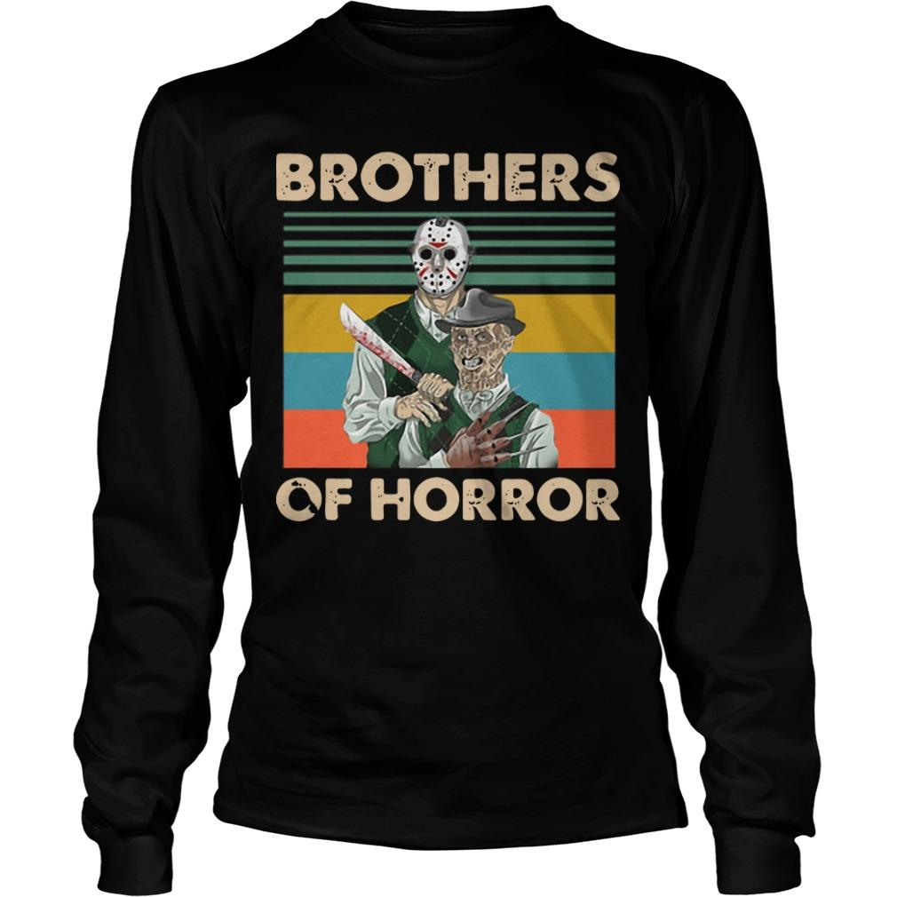 Vintage Jason Voorhees Freddy Krueger Brothers Of Horror Longsleeve