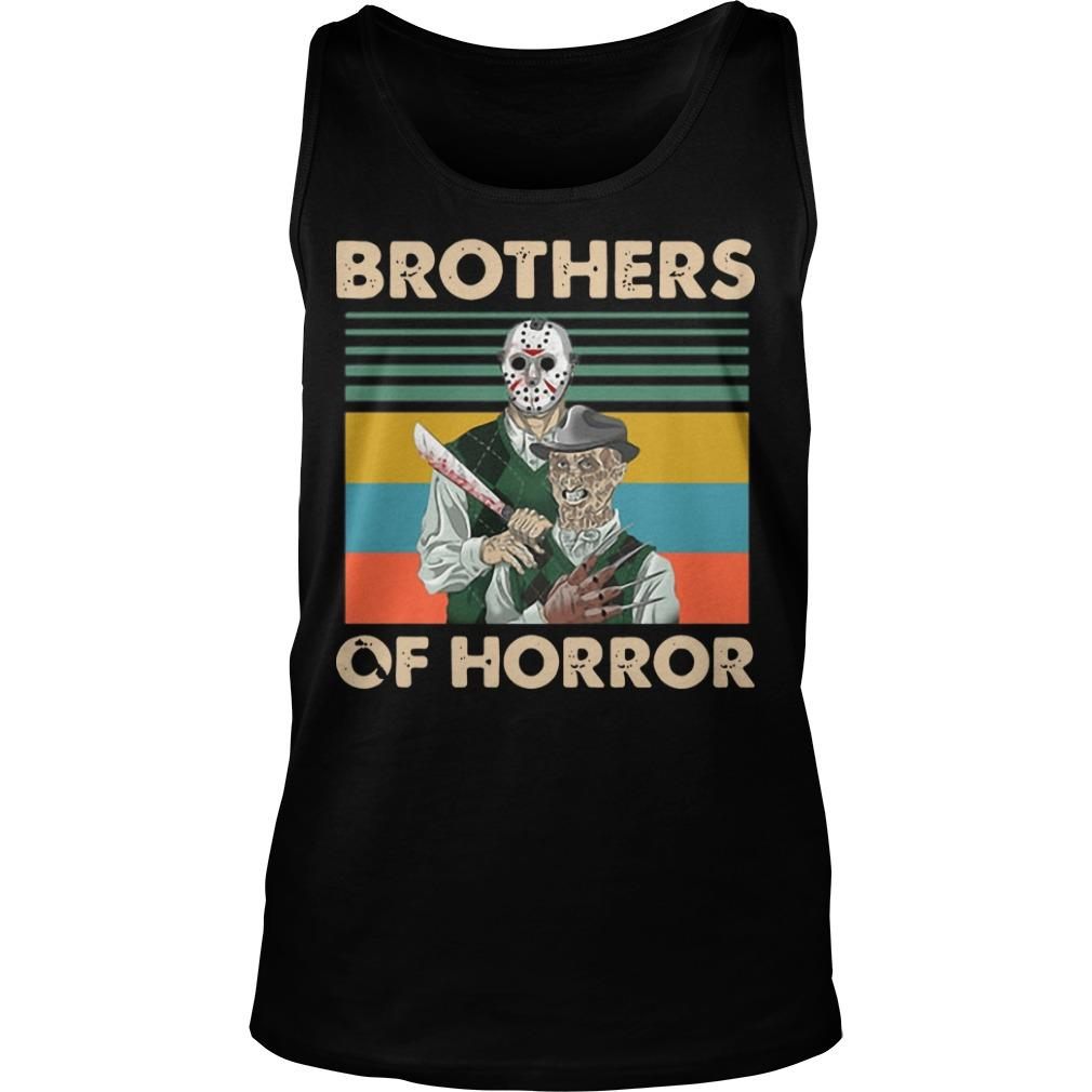 Vintage Jason Voorhees Freddy Krueger Brothers Of Horror Tank Top