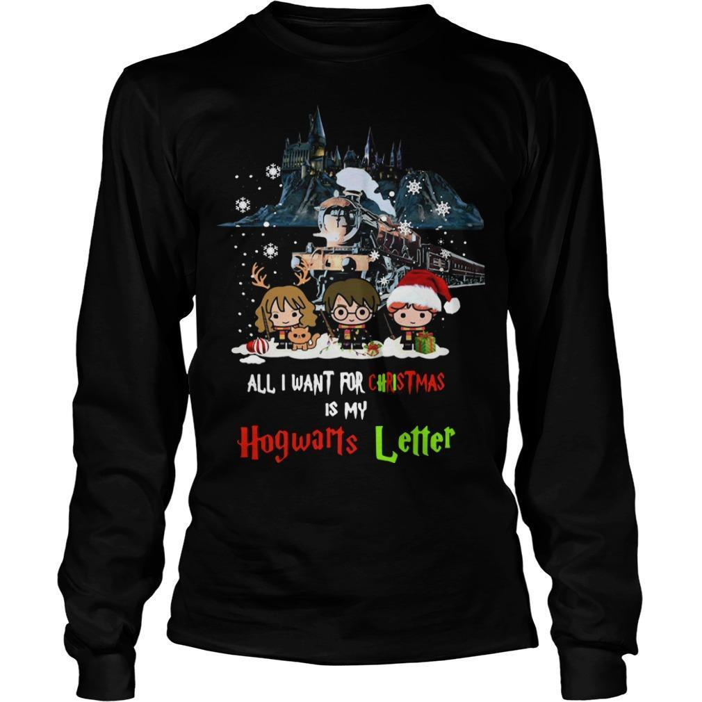 All I Want For Christmas Is My Hogwarts Letter Harry Potter T Longsleeve