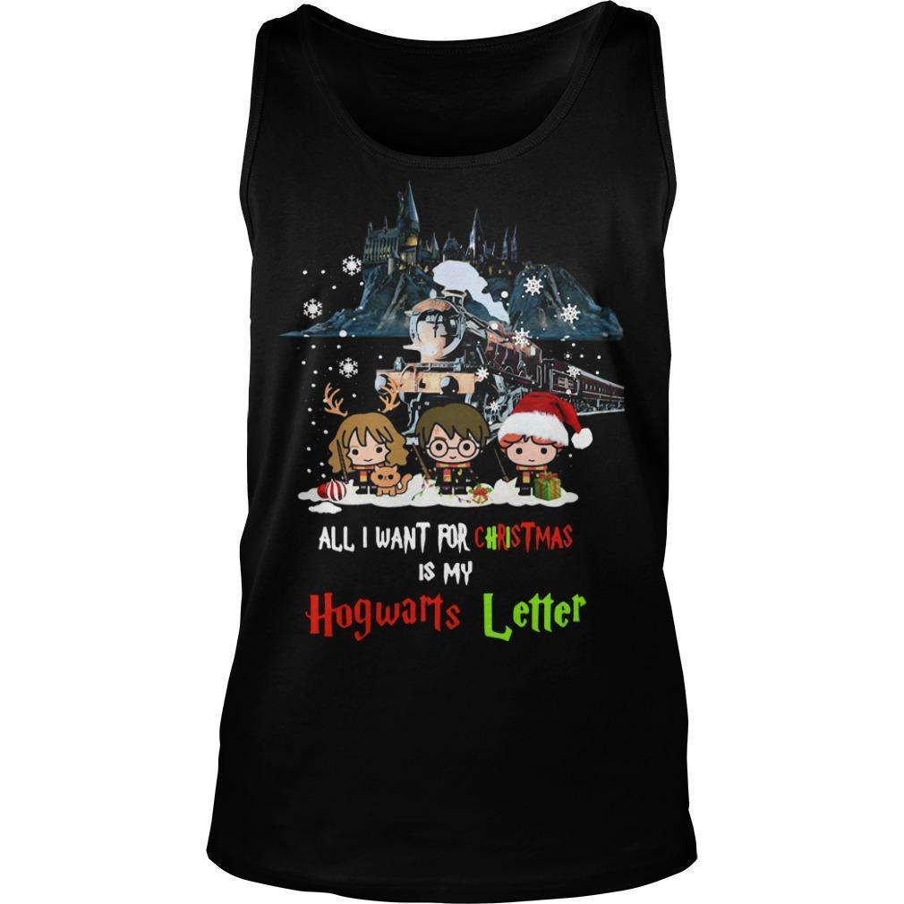 All I Want For Christmas Is My Hogwarts Letter Harry Potter T Tank Top