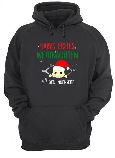 Babys Erstes Weihnachten Auf Der Innenseite Hoodie