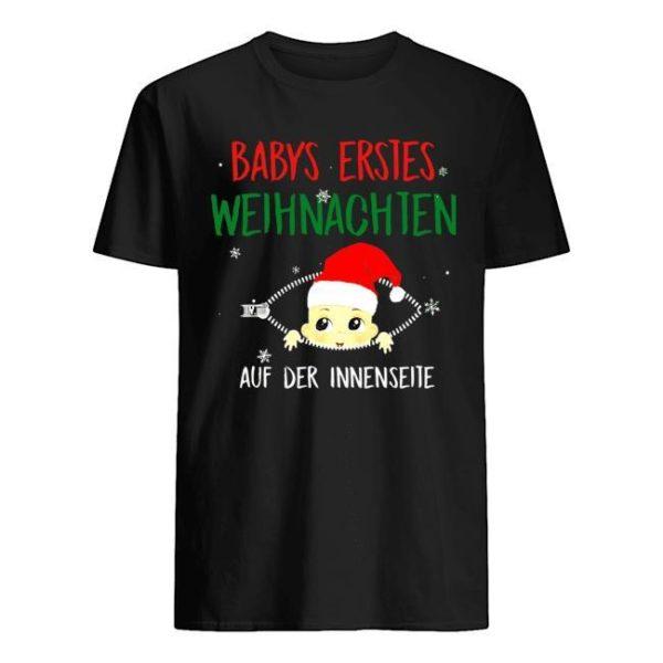 Babys Erstes Weihnachten Auf Der Innenseite Shirt