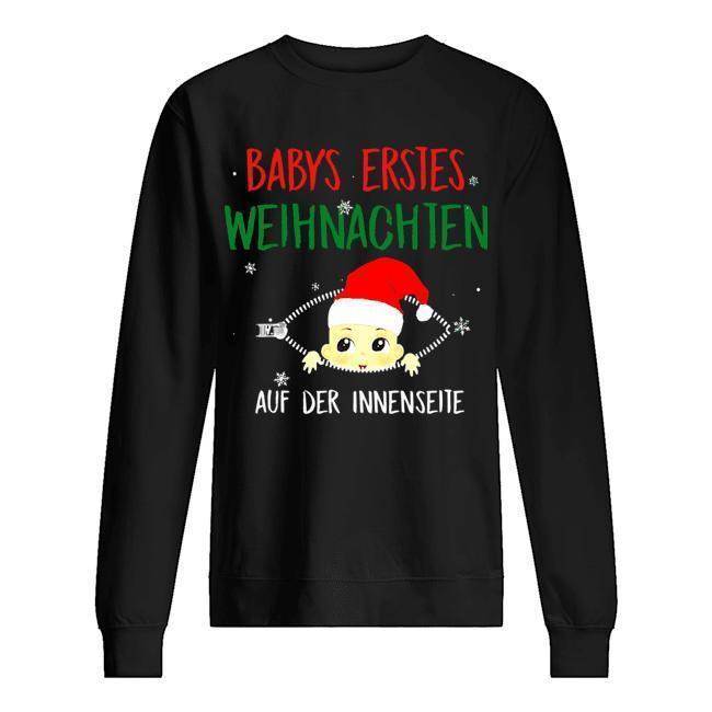 Babys Erstes Weihnachten Auf Der Innenseite Sweater