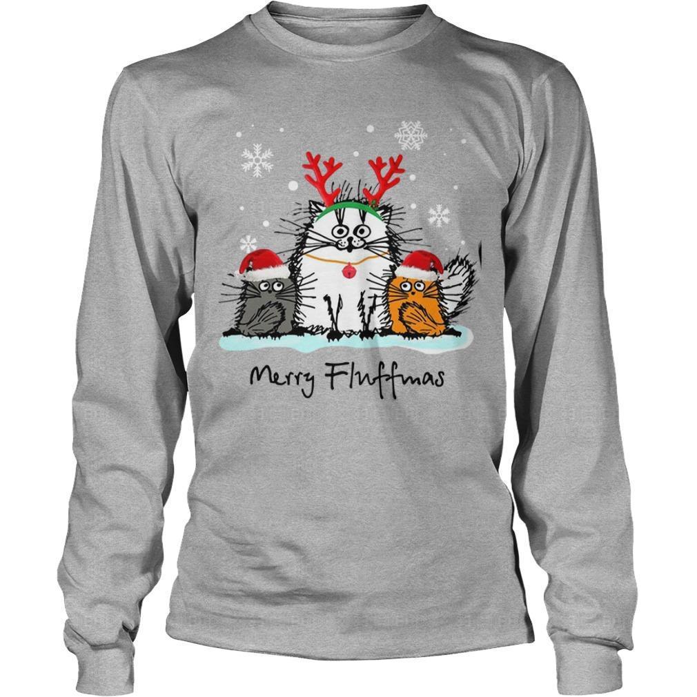 Christmas Cat Merry Fluffmas Longsleeve