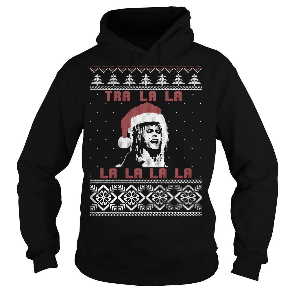 Christmas Labyrinth Tra La La La La La La Hoodie