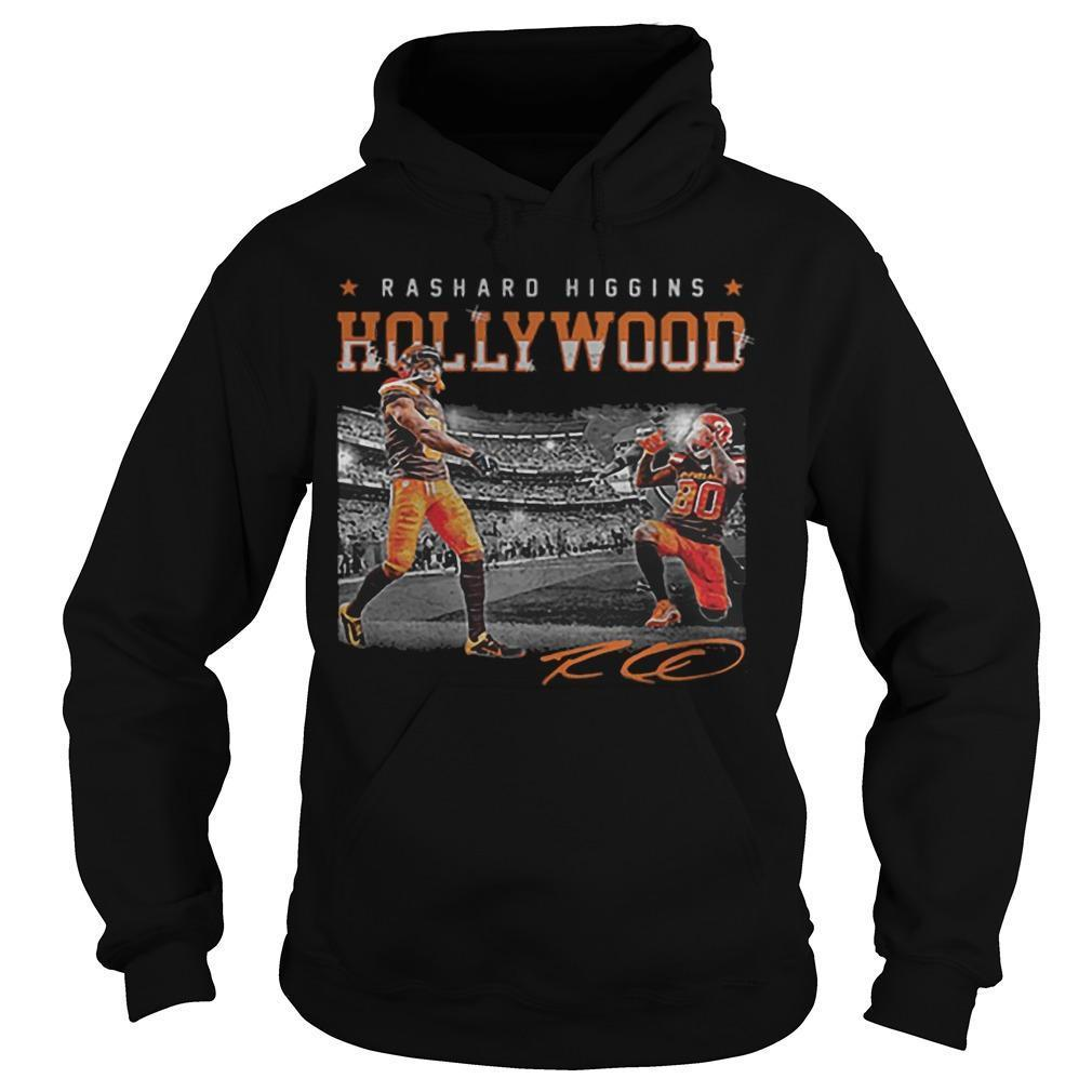 Cleveland Browns Rashard Higgins Hollywood Signature Hoodie