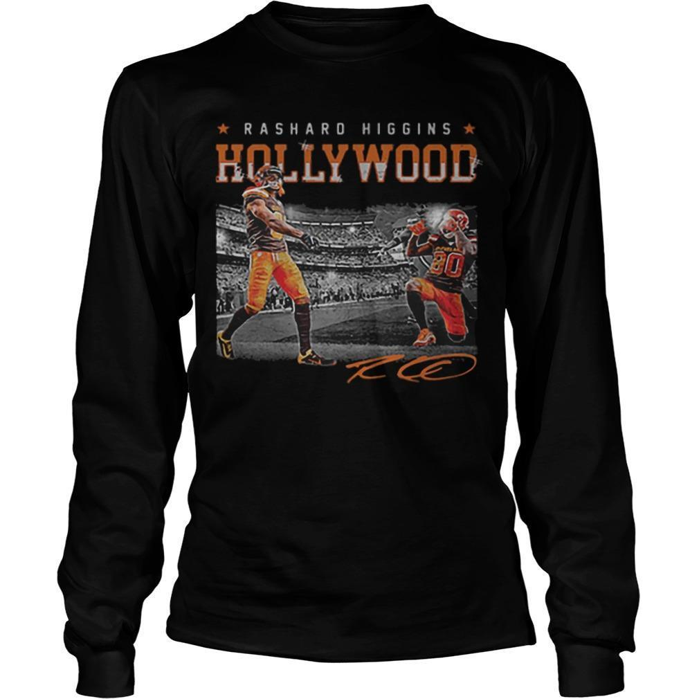 Cleveland Browns Rashard Higgins Hollywood Signature Longsleeve