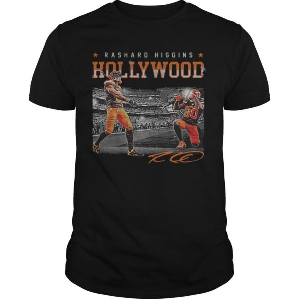 Cleveland Browns Rashard Higgins Hollywood Signature Shirt