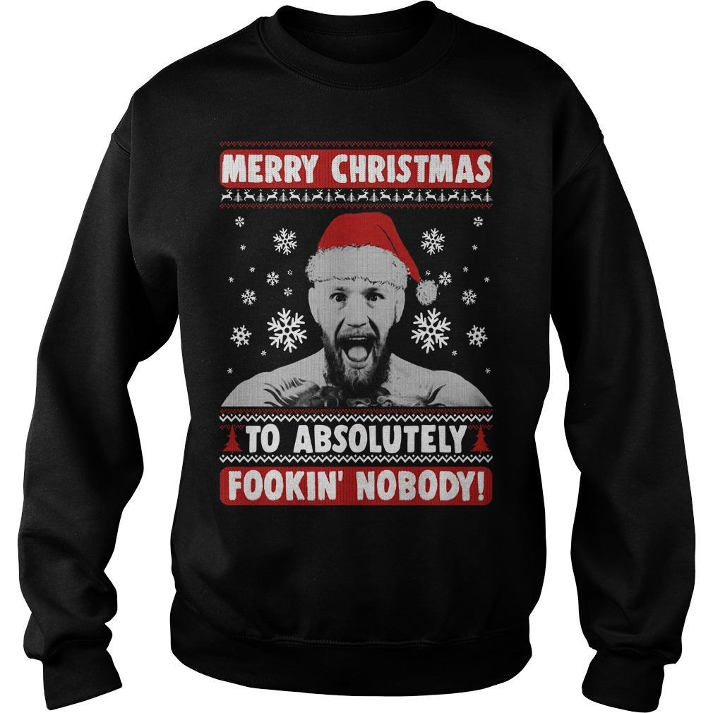 Conor Mcgregor Merry Christmas To Absolutely Fookin' Nobody Sweater